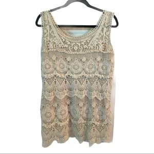 NORTHSTYLE Ivory Lace Tank Top Shabby Chic